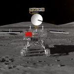 Chinese Ruimtevoertuig Chang'e 4 Geland Op Achterkant Maan