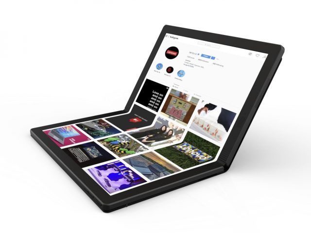 Lenovo Toont 's werelds Eerste Opvouwbare PC